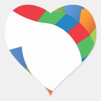Icône de Chevron de flèche de symbole dollar Sticker Cœur