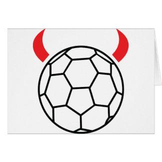 icône de diable de handball cartes de vœux