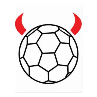 icône de diable de handball carte postale