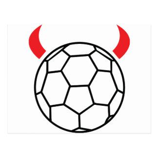 icône de diable de handball cartes postales