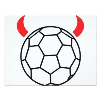 icône de diable de handball invitations personnalisées