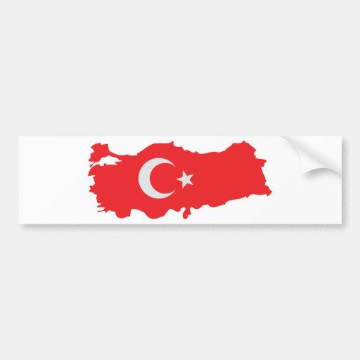 Icône de drapeau de découpe de la Turquie Autocollants Pour Voiture