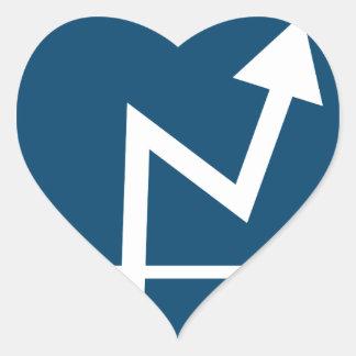 Icône de flèche de bénéfice sticker cœur