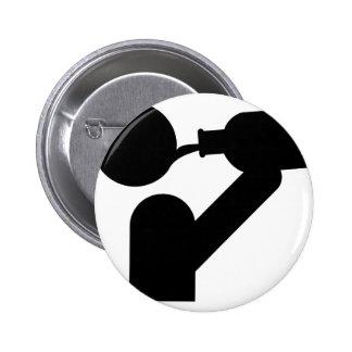 icône de gros buveur badge rond 5 cm