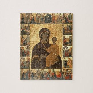 Icône de Hodegetria de Vierge de Smolensk, c.1450  Puzzle