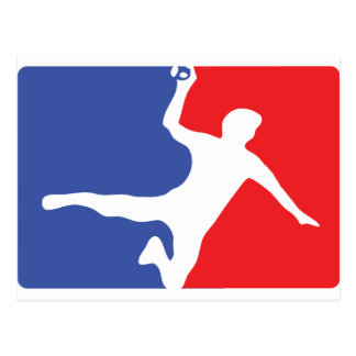 Icône de légende de handball carte postale