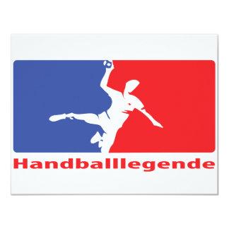 Icône de Legende de handball Carton D'invitation 10,79 Cm X 13,97 Cm