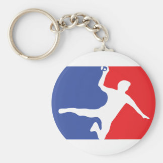 Icône de légende de handball porte-clé rond