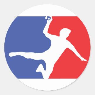 Icône de légende de handball sticker rond