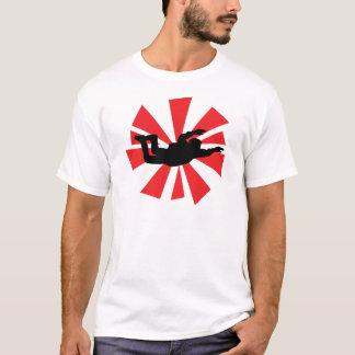 icône de parachutiste de parachutisme t-shirt