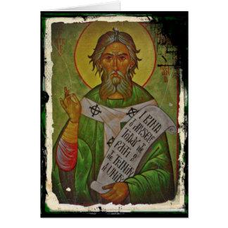 Icône de Patrick de saint sur le vert Carte De Vœux