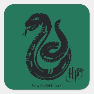 Icône de serpent de Harry Potter | Slytherin Sticker Carré