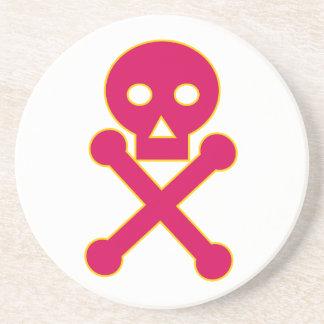 Icône de symbole de poison dessous de verre en grès