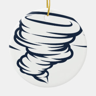 Icône de tornade d'ouragan de cyclone de tornade ornement rond en céramique