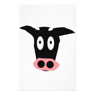 icône de vache papier à lettre customisé