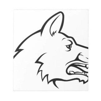 Icône de visage de chien bloc-note