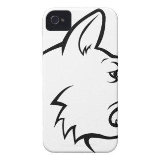 Icône de visage de chien coques Case-Mate iPhone 4