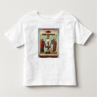 Icône dépeignant la crucifixion avec la Vierge T-shirt Pour Les Tous Petits