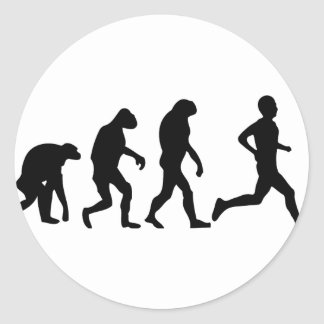 icône d'évolution de coureur adhésif rond