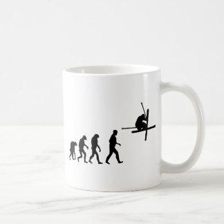 icône d'évolution de ski mug