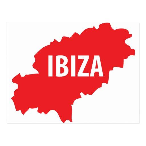 Icône d'Ibiza Carte Postale