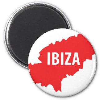 Icône d'Ibiza Magnet Rond 8 Cm