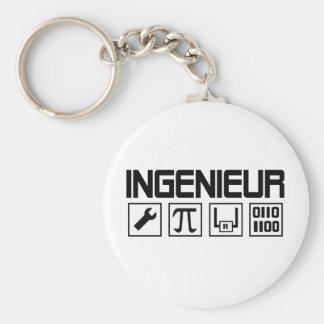icône d'ingenieur porte-clé rond