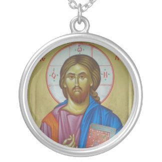 Icône du Christ Pendentif Rond