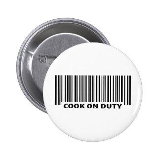 icône en service de cuisinier badge rond 5 cm