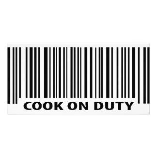 icône en service de cuisinier photocartes personnalisées