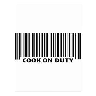 icône en service de cuisinier carte postale