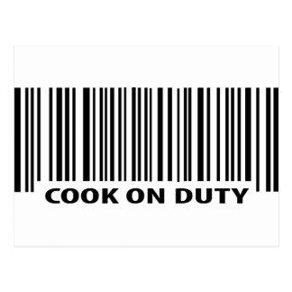 icône en service de cuisinier cartes postales