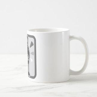 Icône folle d'homme mug blanc