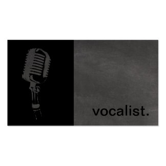 Icône moderne de tableau - noir/gris du chanteur | carte de visite standard
