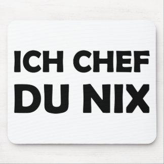 Icône noire de du nix de chef d'Ich Tapis De Souris