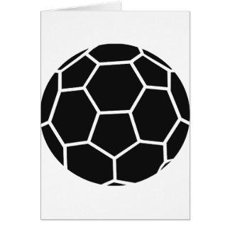 icône noire de handball cartes de vœux