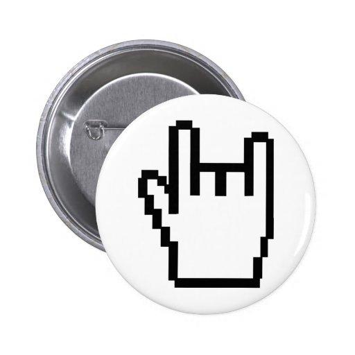 icône noire de métal-tête badges avec agrafe