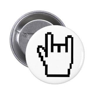 icône noire de métal-tête badge rond 5 cm