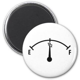 icône noire d'indicateur de carburant magnet rond 8 cm