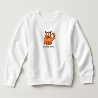 Icône orange de chat de Kitty de bande dessinée de Sweatshirt