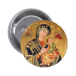 Icône orthodoxe russe - Vierge Marie et bébé Jésus Badge Avec Épingle