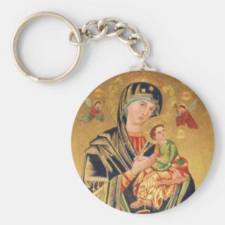 Icône orthodoxe russe - Vierge Marie et bébé Jésus Porte-clés