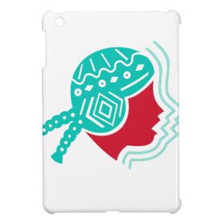 Icône péruvienne de côté de casquette de fille coque pour iPad mini