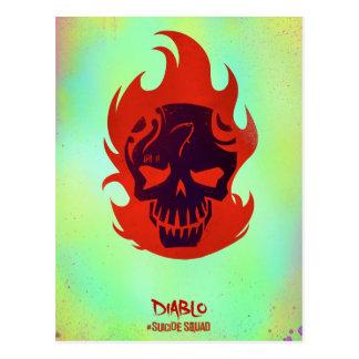 Icône principale du peloton | Diablo de suicide Carte Postale