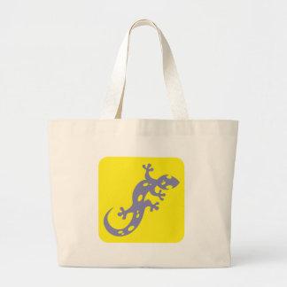Icône repérée de salamandre sac en toile