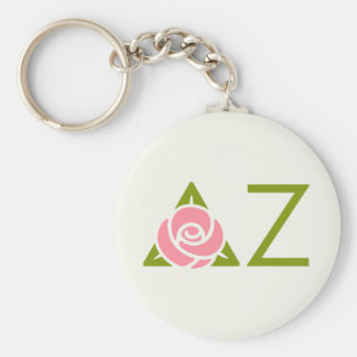 Icône rose de Zeta de delta Porte-clé Rond