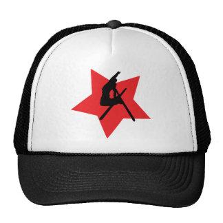 icône rouge de saut à skis casquette de camionneur