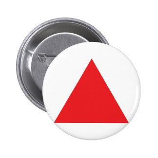 icône rouge de triangle badge rond 5 cm