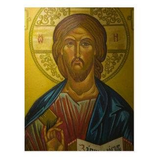 Icône russe à l'intérieur d'église de St Sophia/ Carte Postale