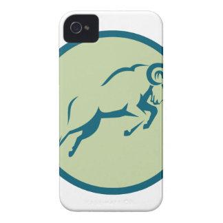 Icône sautante de cercle de moutons de montagne coque iPhone 4